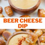 Beer cheese dip pinnable image.