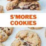 S'mores cookies pinnable recipe.