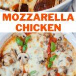 Mozzarella chicken pinnable image.